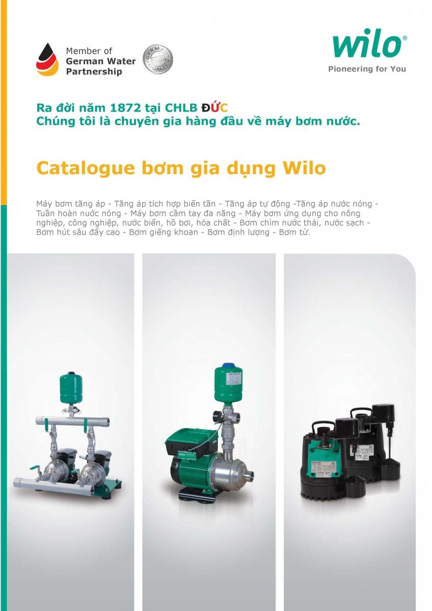 Catalogue bơm dân dụng WILO (Home booster)