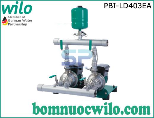 Cụm 2 bơm tăng áp tích hợp biến tần chịu nhiệt Wilo PBI-LD403EA